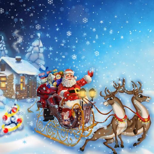 圣诞老人的雪橇之旅